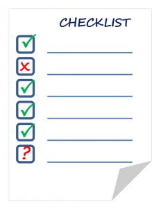 Checklist Pixabay