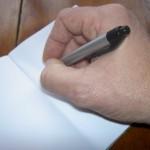 write in blank notebook